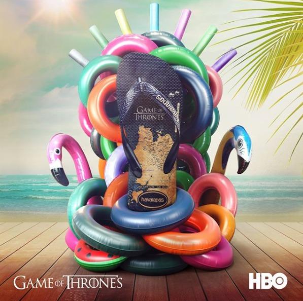 chinelo de game of thrones da havaianas